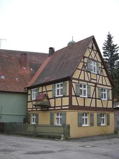 Sjovt hus i Dinkelsbühl