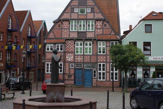 Mønstret gavlhus i Buxtehude