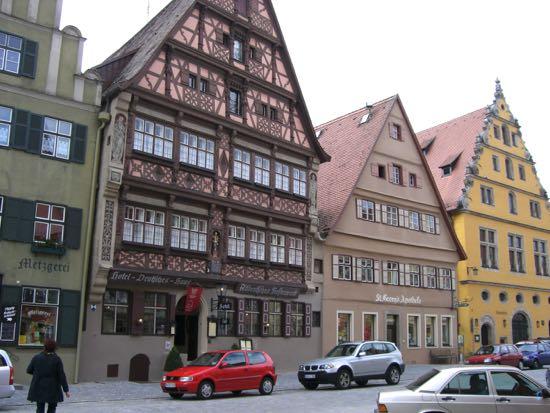 Nogle af Dinkelsbühls gamle huse