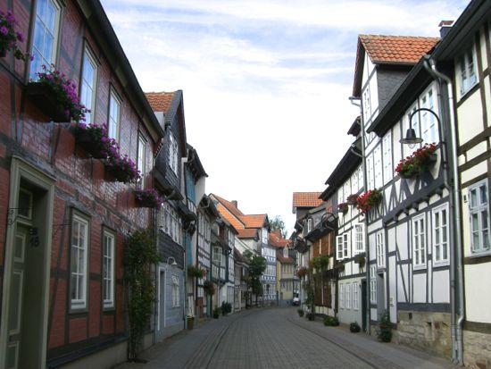 Gamle bindingsværkhuse i Wolfenbüttel