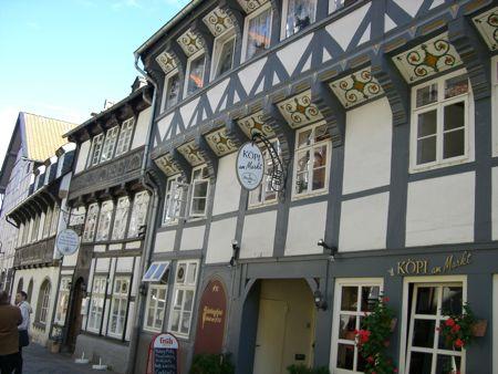 Et af Goslars gamle bindingsværkshuse