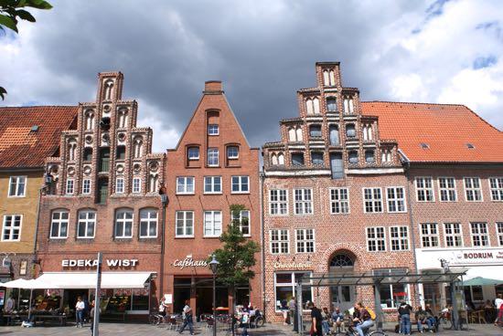 Gamle huse på Am Sande i Lüneburg