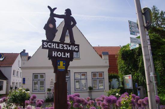 Holmen den romantiske bydel i Schleswig