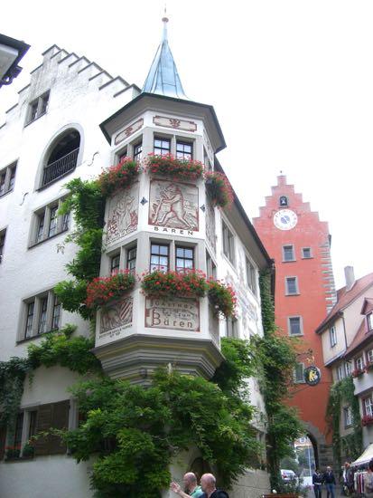 Hus med lille tårn i Meersburg
