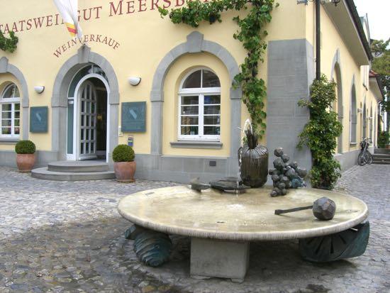 Vinhandler i Meersburg