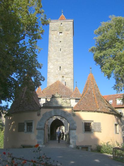 Burgtor i Rothenburg