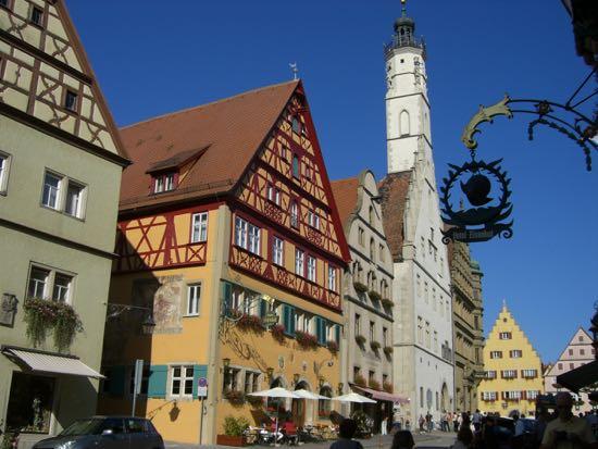 Hemgasse i Rothenburg ob der Tauber