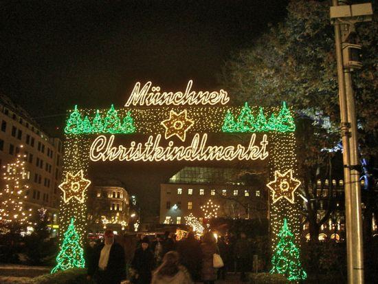 Indgang til en af julemarkederne