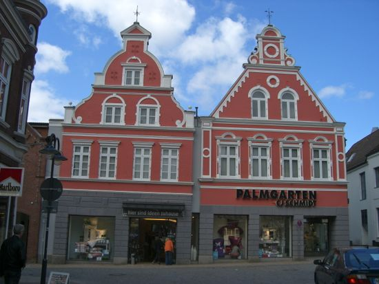 Gavlhuse i Husum i Tyskland