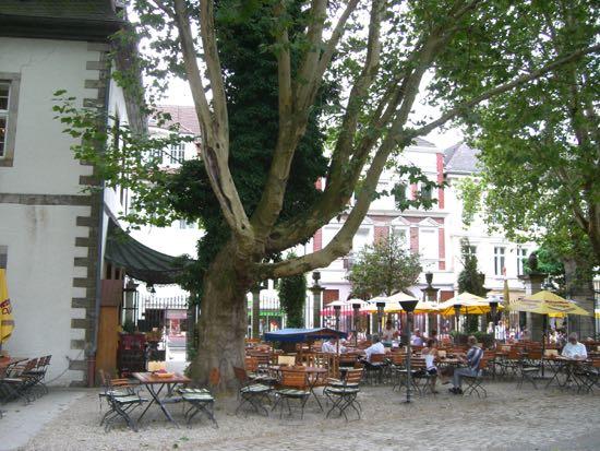 Biergarden Schlosse Wache i Detmold