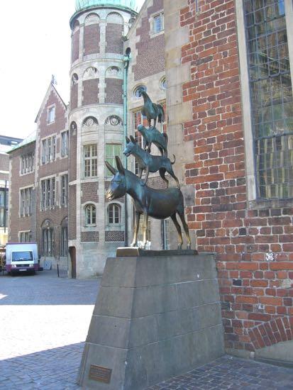 Bronzestatuen Stadsmusikanterne