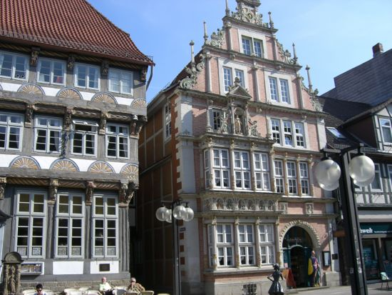 Smukke bindingsværkshuse i Hameln