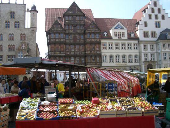 Torvet Hildesheim i Tyskland