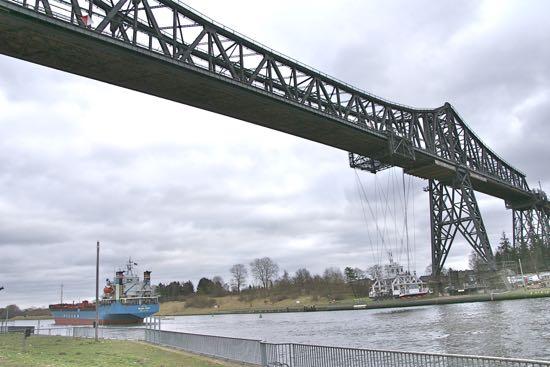 Jernbanebroen i Rendsborg i Tyskland