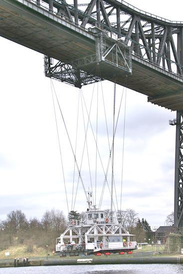 Hængefærgen i Rendsborg i Tyskland