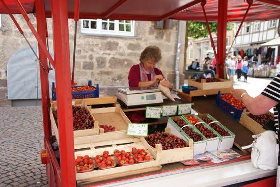 Kirsebær sælger i Witzenhausen