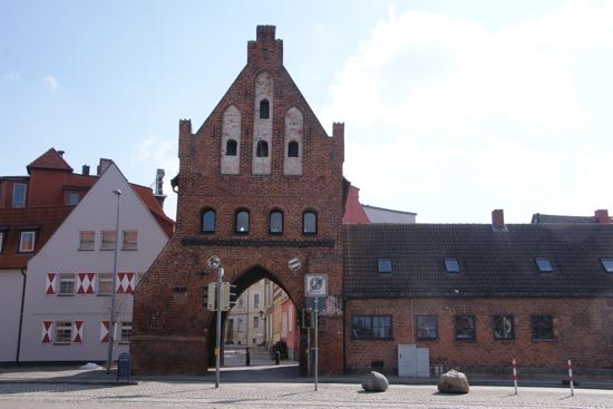 Middelalderporten Wassertor i Wismar