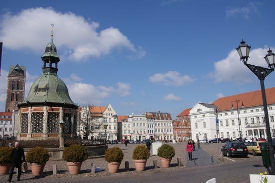 Byen Wismar i Tyskland