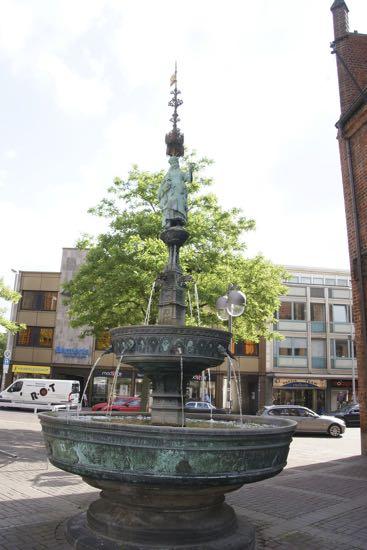 Smuk fontæne i Hannover
