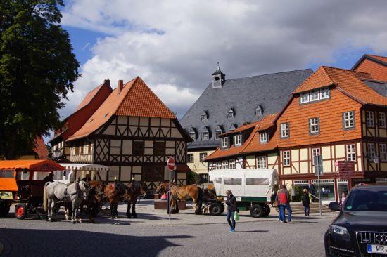 Byen Wernigerode i Tyskland