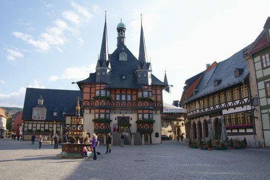 Wernigerode rådhus og torv