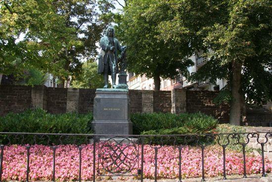 Skulptur af Bach i Eisenach