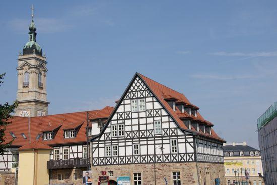 Byen Eisenach i Tyskland