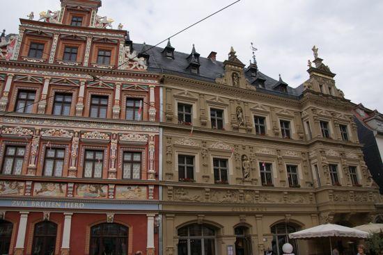 Erfurts smukkeste renæssance facader