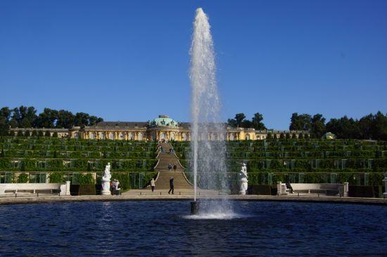 Rokoslottet Sanssouci i Potsdam
