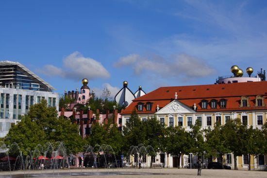 Byen Magdeburg i Tyskland