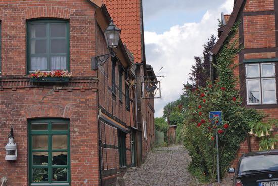 En af de små hyggelige gader i Lauenburg