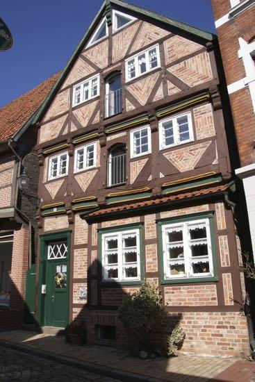Bindingsværkshus i Lauenburg