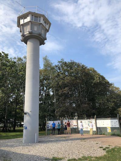 Gammelt DDR vagttårn i Kühlungsborn