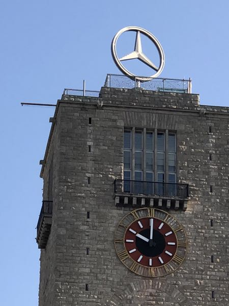 Mercedes stjernen i Stuttgart.